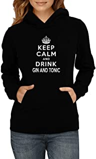 Idakoos Keep Calm and Drink Gin and Tonic Women Hoodie