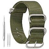 20mm ejército Prima Verde del Estilo de la NATO Robusto exótica Nylon Suave Tipo Reloj Pulsera de los Hombres del Deporte
