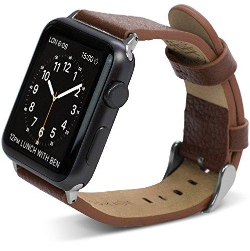 X-Doria Lux Band per Apple Watch 42 mm (Marrone, in pelle)
