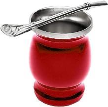 Cup Mate a 8 oz Maté Tea Cup Set isolé Gourd en acier inoxydable thermique avec Bombilla paille rouge tasse de café Espres...