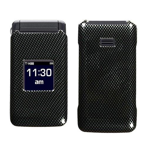 Hard Plastic Snap on Cover Fits Samsung U320 Haven Carbon Fiber
