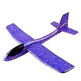 STOBOK Aviones Planeadores de Espuma Ligera Juguetes de Vehículo para Niños 48cm (Color Aleatorio)