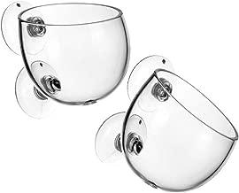 Tfwadmx Plant Pot Aquarium Decor Aquatic Plant Cup with 2 Suction Cup for Fish Tank Aquarium Aquascape(2 Pack)