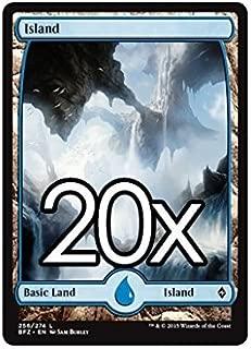 20 Battle for Zendikar Island #256 Magic the Gathering Basic FULL ART Land Lot