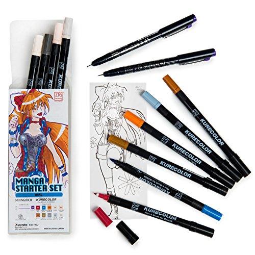 Japonés Manga 12bolígrafos Set de regalo chica