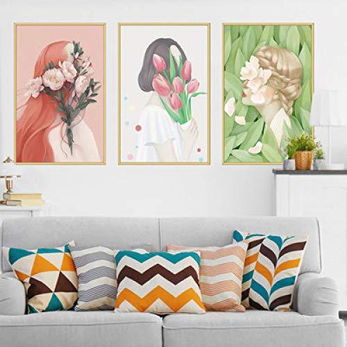 Etiqueta de la pared extraíble Autoadhesivo Carácter impermeable Etiqueta de la pared del dormitorio Decoración del hogar Accesorios Papel pintado Etiqueta de la pared50x70cm