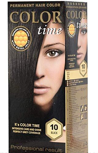 Color Time Haarfarbe Permanent, mit Gelée royale, 25 Kastanie