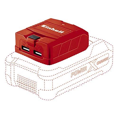 Einhell TE-CP 18 Li USBSolo Power X-Change USB-accuadapter (lithium-ionen, 18 V, externe stroombron voor mobiele telefoon, MP3-speler, tablet etc, 3 USB-aansluitingen, zonder accu en oplader)