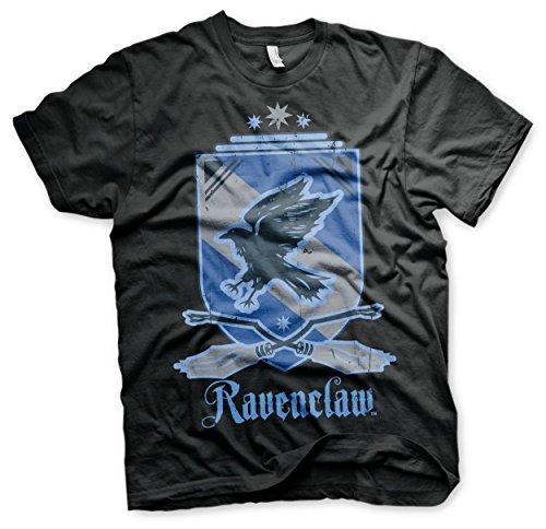 HARRY POTTER Oficialmente Licenciado Ravenclaw Camiseta para Hombre (Negro)