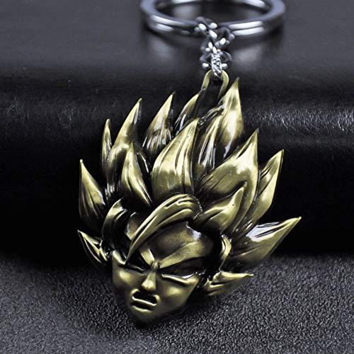 SGOT Dragonball Z Schlüsselanhänger, Anime Son Goku Keychain, Metall Anhänger, Für Anime Lovers(Bronze)