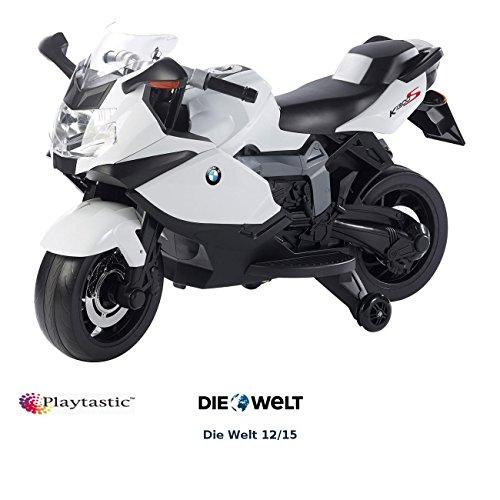Playtastic Elektromotorrad: Original BMW-Lizenziertes elektrisches Kindermotorrad BMW K1300 S (Motorrad Kinder)