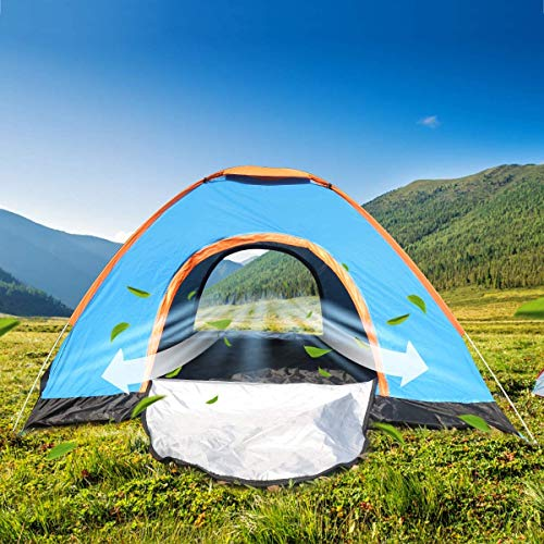 Seven-first Automatic Pop Up Family Camping Tent - Fits 4 People, Heat Dissipation, Water Resistant, UV Protection Sun Shelter for Camping Hiking Mountaineering Beach - Carry Bag Included