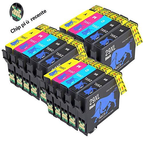 Abcs Printing 29XL Compatibile per Cartucce Epson 29XL 29 Epson Expression Home XP-235/XP-245/XP-247/XP-332/XP-335/XP-342/XP-345/XP-432/XP-435/XP-442/XP-445 (6 Nero, 3 Ciano, 3 Magenta, 3 Giallo)