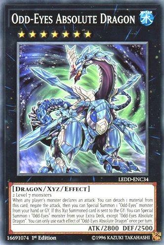 yu-gi-oh Odd-Eyes Absolute Dragon - LEDD-ENC34 - Common - 1st Edition - Legendary Dragon Decks (1st Edition)