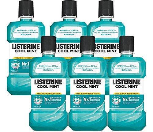 Listerine Cool Mint, 6er Pack (6 x 500 ml)