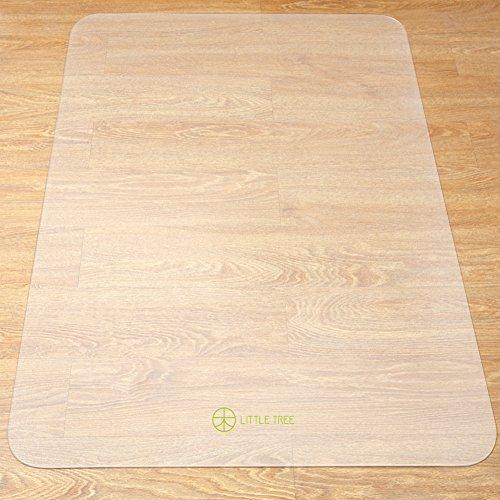 LITTLE TREE チェアマット マット デスク 椅子の下に敷くマット 床 きず防止 マット 机の擦り傷防止滑り止め カット可能 透明大型デスク足元マット フローリング/畳/床暖房対応 (180×90cm 厚1.5mm)