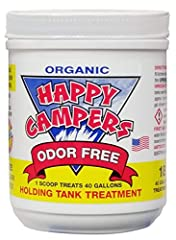 ODOR FREE: absolutely no sewer smell EFFECTIVE: in extreme hot and cold temperatures (over 100° F) LIQUIFY: waste solids and most ordinary household tissue (no expensive special tissue needed)