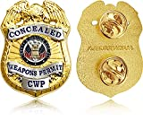 Concealed Weapons Permit Lapel Pin - Metal Pin