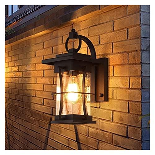 CMMT lámpara de Pared Lámpara de Pared al Aire Libre Simple y Moderna a Prueba de Agua para la Puerta al Aire Libre Luz de la Puerta Japonesa del Pasillo del Hotel
