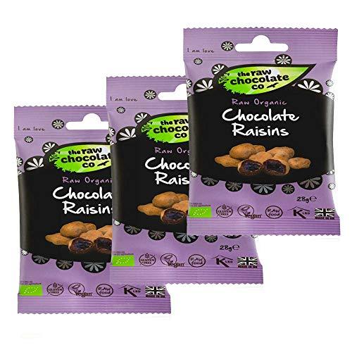 レーズン チョコスナック 28g×3 raisin choco snack ローチョコレート raw chocolate ビーガン vegan フェアトレード fair trade メール便限定