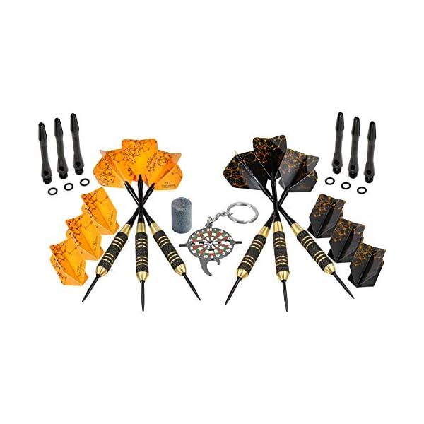 Professional Steel Tip Darts Set yellow black