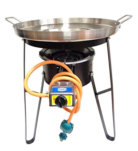 Comal Stainless Steel 22' Set with Propane Burner & Heavy Duty Stand - National Standard Products (22' Set)