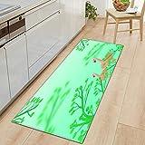 Alfombra para puerta de interior, color verde, 80 x 120 cm, para...