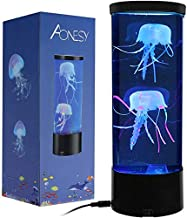 Jellyfish Lamp with Color Changing Lights-Artificial Mini Aquarium Night Light Romantic Gifts for Kids Men Women Dad Mom-H...