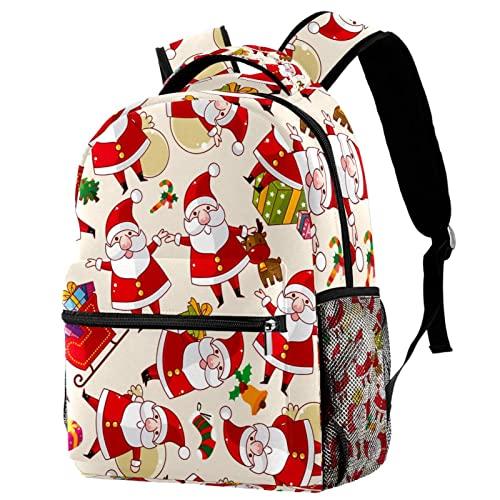 Divertido muñeco de nieve de Navidad reno campanas de decoración mochila para adolescente, moda causal portátil mochila mochila viaje mochila, Multicolor 04,