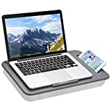 LapGear Sidekick Lap Desk with Device Ledge and Phone Holder - Gray - Fits Up to 15.6 Inch Laptops - Style No....