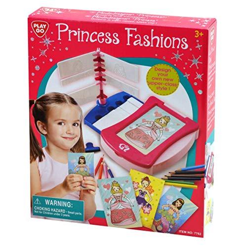 Bavaria-Home-Style-Collection Modedesigner Prinzessin - Mode - Design - Spiel - Kreativ Modespiel - Malspiel - für Mädchen ab 3 Jahre - Geschenk Idee Ostern , Geburtstag , Weihnachten
