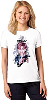 Camiseta Feminina T-Shirt Kpop BTS Rap Monster You Never Walk Alone ES_160