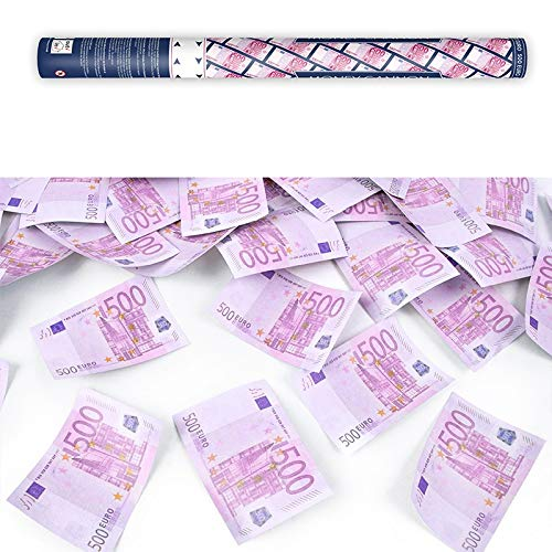 Unbekannt 12 confettis de Canons 60 cm pour Mariage, Fête ou Anniversaire 500 EUR Geldscheine