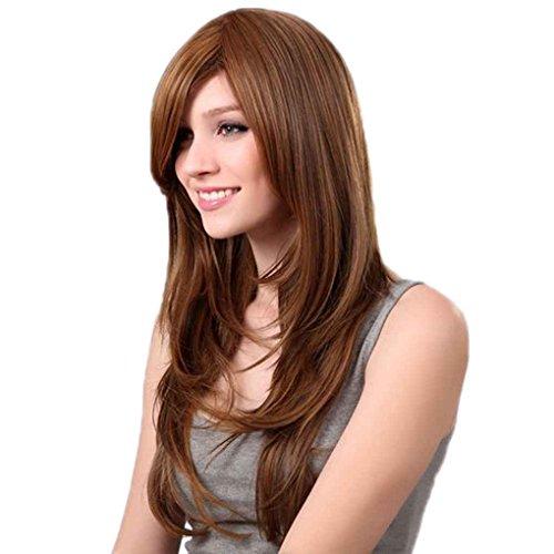 Xuanhemen Perruque à perruque ondulée à perruque longue et résistante à la chaleur pour femmes Cosplay Carnival Masquerade Wig