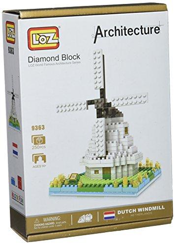 LOZ Building & Construction 9363 Windmill Building Blocks (260 Piece)