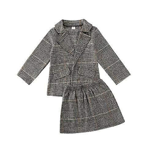 LILIZHAN Fashion Kids Meisjes Kleding Meisjes Jas Trench Rokken Outfit Set Herfst Winter Dikke Warm Set Klassieke Pak Vest en Rok