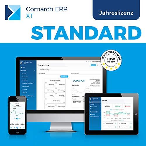 Comarch ERP XT – einfaches Rechnungsprogramm und Lagerverwaltung für Kleinunternehmer, Selbständige, Handwerker, Dienstleister – aus der Cloud – viele Funktionen – Paket STANDARD (Jahreslizenz)