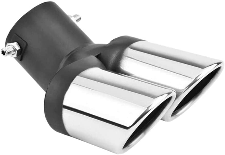 BEKwe Car Dual Outlet Exhaust T Muffler Pipe Max 4 years warranty 54% OFF Throat Tail
