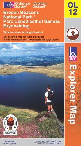 OS Explorer map OL12 : Brecon Beacons National Park / Parc Cenedlaethol Bannau Brycheiniog