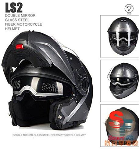 システムヘルメット フリップアップヘルメット バイクヘルメット 8色入り PSC規格品 フルフェイスヘルメット 原付 LS2-325[商品1/L]