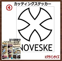 ④NOVESUKE ノベスケ カッティングステッカー (ブラック, 12x9.5cm 【2枚組】)