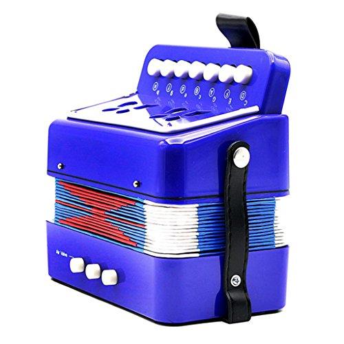 Almencla Kinder Percussion Akkordeon Musikalische Spielzeug Kinder Musikinstrument Blau - Blau