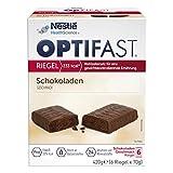 OPTIFAST Barritas Chocolate. Estuche de 6 barritas de 65g cada una, sustitutivas de la comida para...