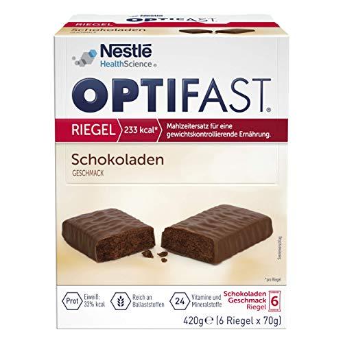 OPTIFAST KONZEPT Diät Riegel Schokolade zum Abnehmen | eiweißreicher Mahlzeitenersatz mit wichtigen Vitaminen und Mineralstoffen | schnell zubereitet und lecker im Geschmack | 6 x 70g