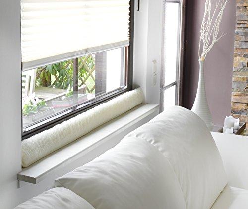 Zugluftstopper 100cm Fenster Schurwolle Türstopper Zugluftstop Natur
