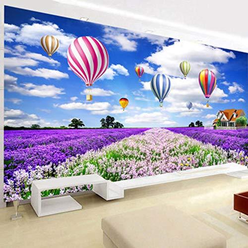 5d diy pintura diamante grande decoraciones para el hogar sala de estar cielo globo de aire caliente lavanda cubo redondo de rubik, 300x110 cm taladro completo