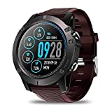 Smartwatch Tactical V5 Touch Screen Smart Watch Men Heart Rate Tracking Sports (Red)