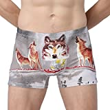 ONEFIT Mens Wolf Grey Boxer Briefs Stretch Cotton Shorts M