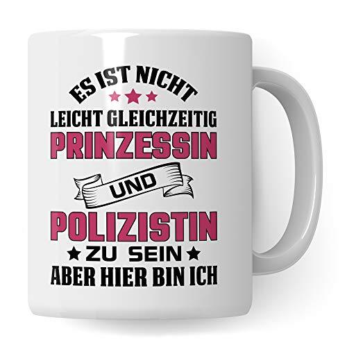 Tasse Polizistin - Polizei Beruf Geschenk Polizeibeamtin Kaffeetasse Ausbildung Polizist Frau Geschenkidee