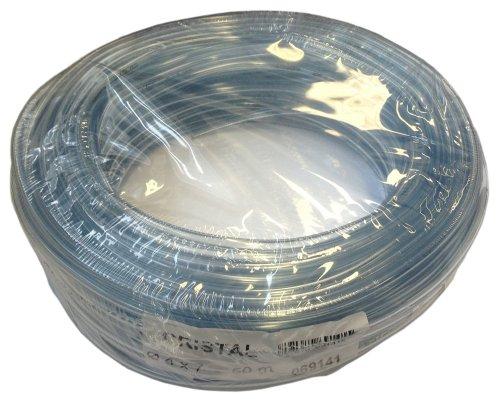 Tricoflex Wasserschlauch Cristal Weich PVC Schlauch, 4 mm innen, 7 mm außen, 50 m Rolle, Transparent